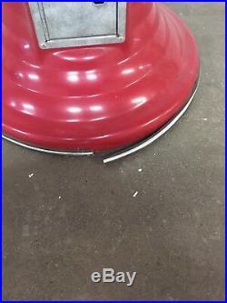 Vintage Gumball Wizard Spiral/Corkscrew Gumb Ball 25c Machine CANDY Red RARE