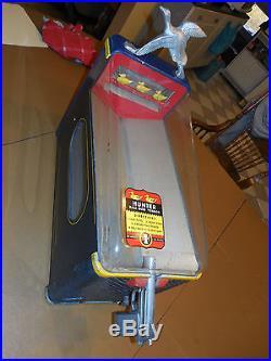 Vintage Gumball gun machine 1 CENT HUNTER SILVER KING SHOOT THE DUCK