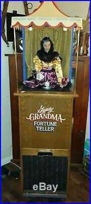 Vintage Gypsy Grandma Coin Op Fortune Teller