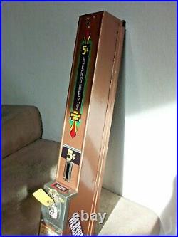 Vintage Hershey's 5¢ Advance Wall Mount Vending Machine Withkeys, Cash box