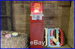 Vintage Hot Nuts Peanut Vending Machine with Red Light, Coin Operated Arcade