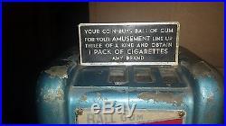 Vintage Imp Ball Gum Vendor Trade Simulator Machine Coin Operated