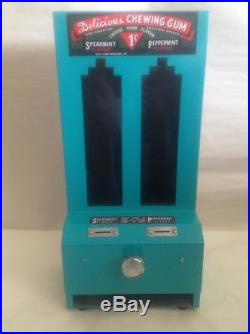 Vintage Jolly Good Delicious Chewing Gum Vending Machine 1 Penny Stick Gum