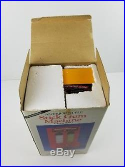 Vintage Jolly Good Delicious Chewing Gum Vending Machine 1 Penny Stick Gum withBox