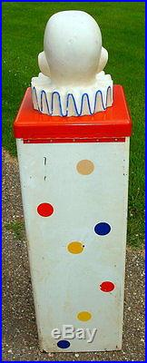 Vintage King Koin Clown Toy Prize Winning Vending Machine with Prizes Inside 60's