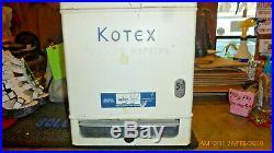 Vintage Kotex Feminine Napkin Embossed Coin Vending Machine Dispenser 1961