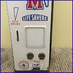 Vintage Lifesavers Wrigleys Gum Vending Machine Dispenser Coin Operated With Key