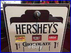 Vintage Looking HERSHEY'S Chocolate Candy 1 Cent Wall Mount Vendor WATCH VIDEO
