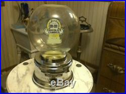 Vintage M an M penny candy machine by ford gum works well with lock an key