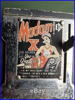 Vintage Madam X Fortune Teller Napkin Dispenser 1950s Coin Op One Cent