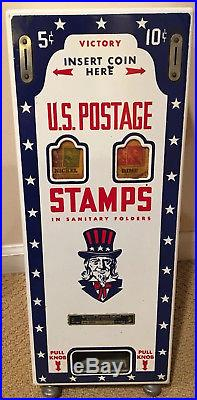Vintage Mid Century USPS stamp vending machine US Post Office collectible