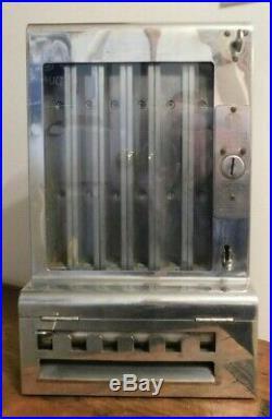 Vintage Mills 1 Cent Gum Dispenser Vending Machine With Key