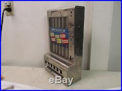 Vintage Mills Adams Tab Gum Coin Operated Penny Machine No Key