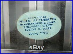 Vintage Mills Tab Gum Machine, Chewing Gum, Beemans, Chiclets, Dentyne, One Cent