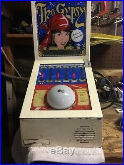 Vintage Mr Vend Gypsy Fortune Teller Vending Machine Works talks spanish
