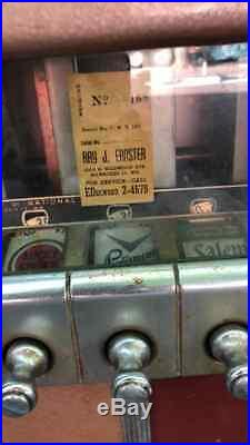 Vintage National Cigarette Vending Machine 30 Cents Mirrored Advertising