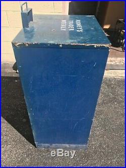 Vintage Newspaper Vending Machine Stand Box Metal