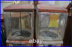 Vintage Northwestern Double Candy Gumball Dispenser Machine