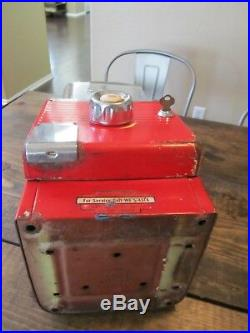 Vintage Northwestern Gumball Machine & Key Penny 1 Cent 1940's-50's Original