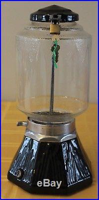 Vintage Northwestern Model 33 Peanut Vending Machine 1 Cent Penny Frosted Globe