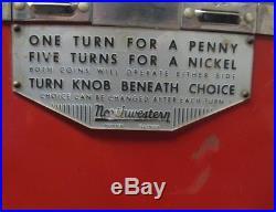 Vintage Northwestern Peanut vending machine