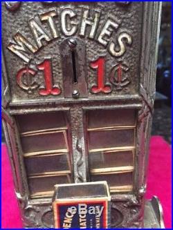 Vintage Northwestern/Sellem Coin-Op Matchbook Dispenser Nickel over Iron