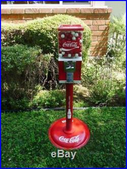 Vintage Northwestern coin op COCA COLA gumball candy machine embossed glass