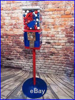 Vintage Northwestern gumball machine Pepsi cola glass globe +stand + gumball