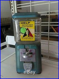 Vintage Oak Gumball machine
