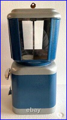 Vintage Oak Universal Vendors Peanut Coin Op Vending Machine Fully Restored