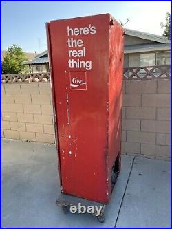 Vintage Old Coca Cola Bottle Vending Machine Dispenser