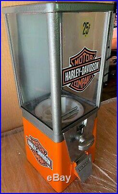 Vintage Older Oak Acorn Harley Davidson Gumball Machine Super Cool