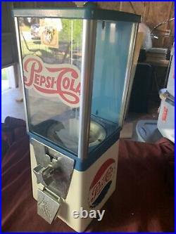 Vintage Older Pepsi Cola Gumball Machine Super Cool Vending