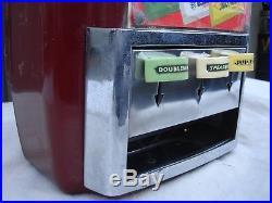 Vintage Original 1940's Vendo Wrigley's 5 cent 3 Column Vending Machine