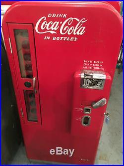 Vintage Original 1950's Vendo 81 Coca Cola Vending Machine Coke Soda