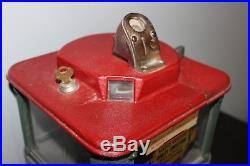 Vintage Original AL HOFF 1 Cent Magic Vendor Candy Peanut Vending Machine w Key