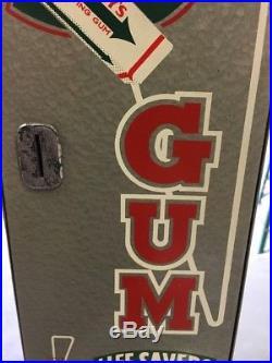 Vintage Original Wrigleys Theme Gum Vending Machine COIN-OP 5 Cent L@@K