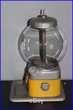 Vintage PERK UP Vending Machine Chlorophyll Candy 5 Cent Nickel Vendor Yellow