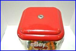 Vintage Penny Gum-ball Machine 1940's 1950's Western Coin Operated 1010