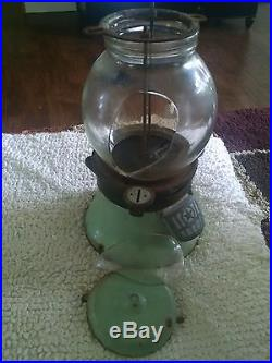 Vintage Penny Gumball Machine Columbus Model Parts Repair Restore Very Old
