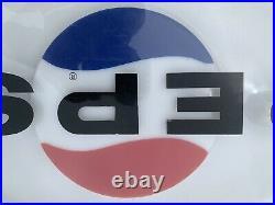 Vintage Pepsi 1960s, 1970s Vending Machine Replacement Molded Sign, Original RARE