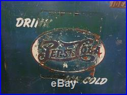 Vintage Pepsi Cola with Embossed Logo Vending Machine / Cooler Ideal Brand USA