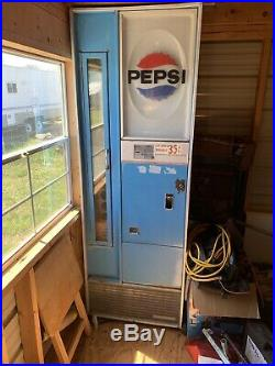Vintage Pepsi Vendorlator Vending Machine