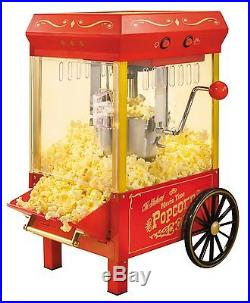 Vintage Popcorn Machine Maker Cart Commercial Grade Electric Countertop NEW