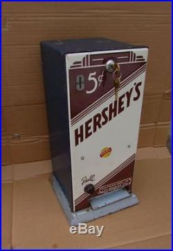 Vintage Porcelain Hershey Candy Bar Vending Machine Gumball Peanut