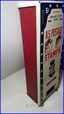 Vintage Porcelain Victory Postage Stamp Machine 1940s