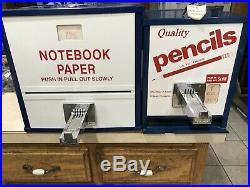 Vintage Quality Pencil Paper Vending Machines School Office Mancave Den