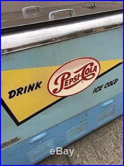Vintage Quikold Pepsi Ice Chest Cooler 7up Coca Cola Rare