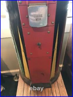Vintage RARE Large 42 Hot Nuts Machine 10 cent Dime Oak Mfg Repair or Parts