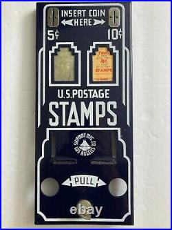 Vintage Rare 1950's Shipman 5 and 10 cent Stamp Machine in Great Shape